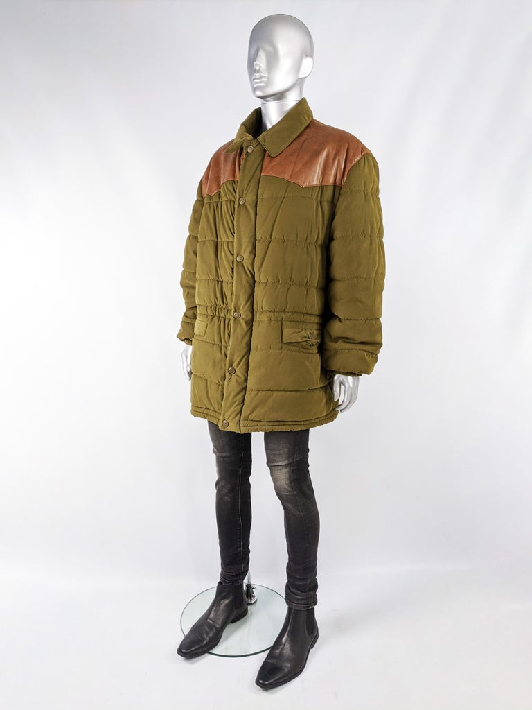 Oliver by Valentino Vintage Mens Long Puffer Coat 2