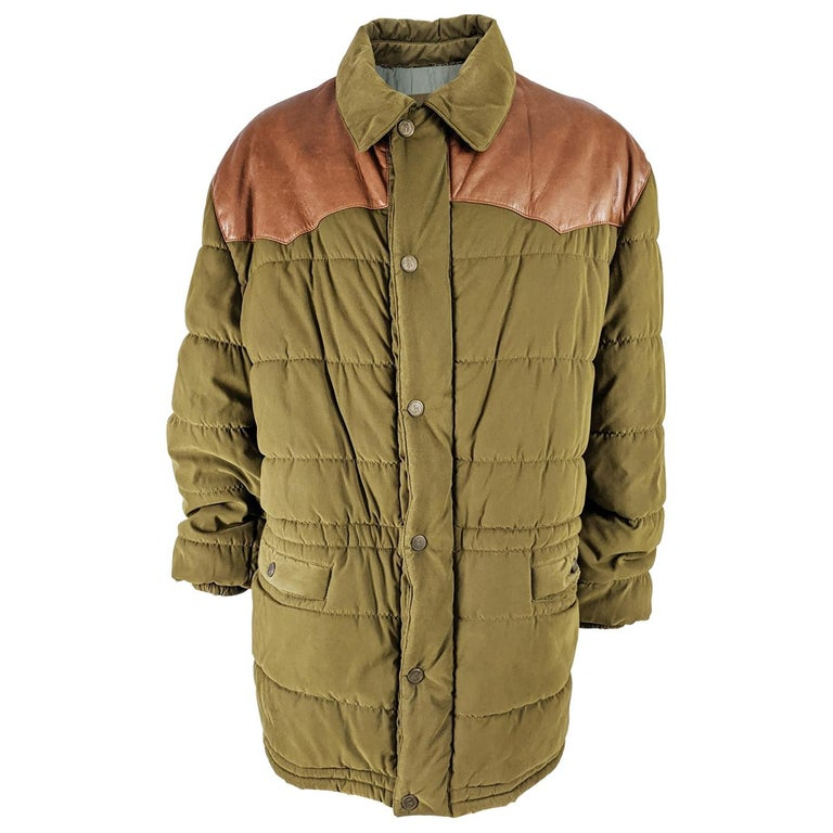 Oliver by Valentino Vintage Mens Long Puffer Coat