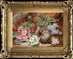 Still Life Flowers And A Bird's Nest