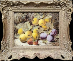Still Life of Plums, Peaches and Strawberries