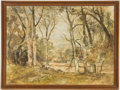 Oliver Hall RA - Signed and Framed 1954 English Oil, The Woodlands