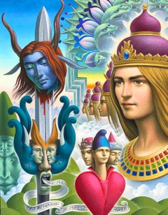 Awakening at Gordia - Highly Detailed, Surreal and Symbolic Painting