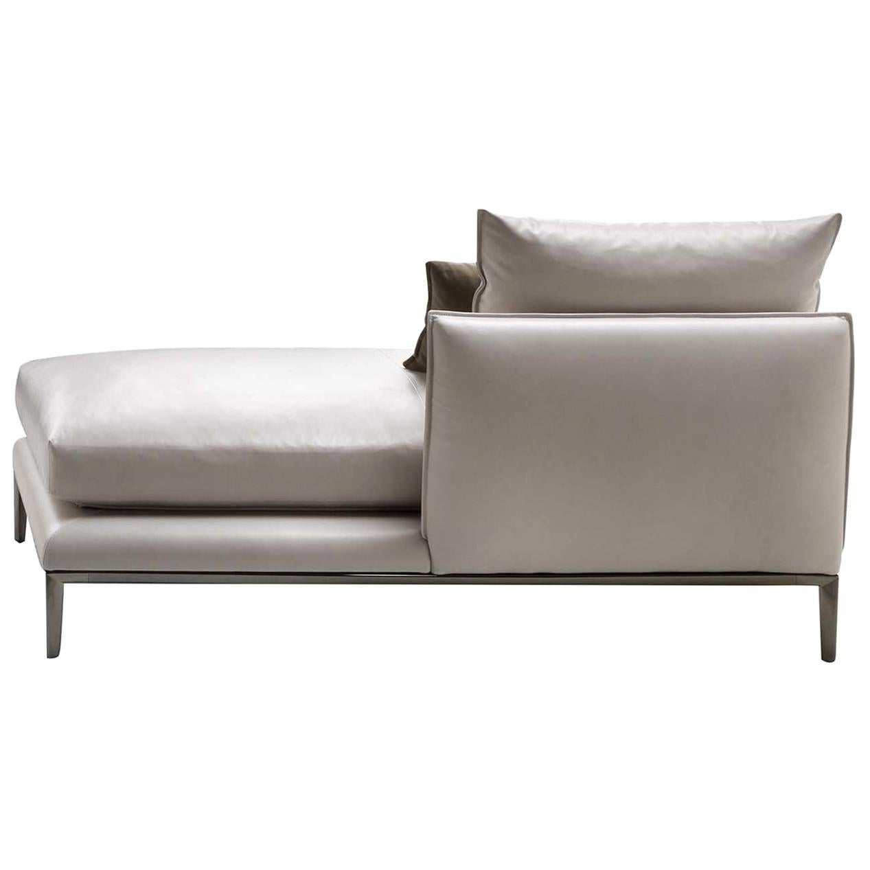 Oliver Leather Chaise Longue