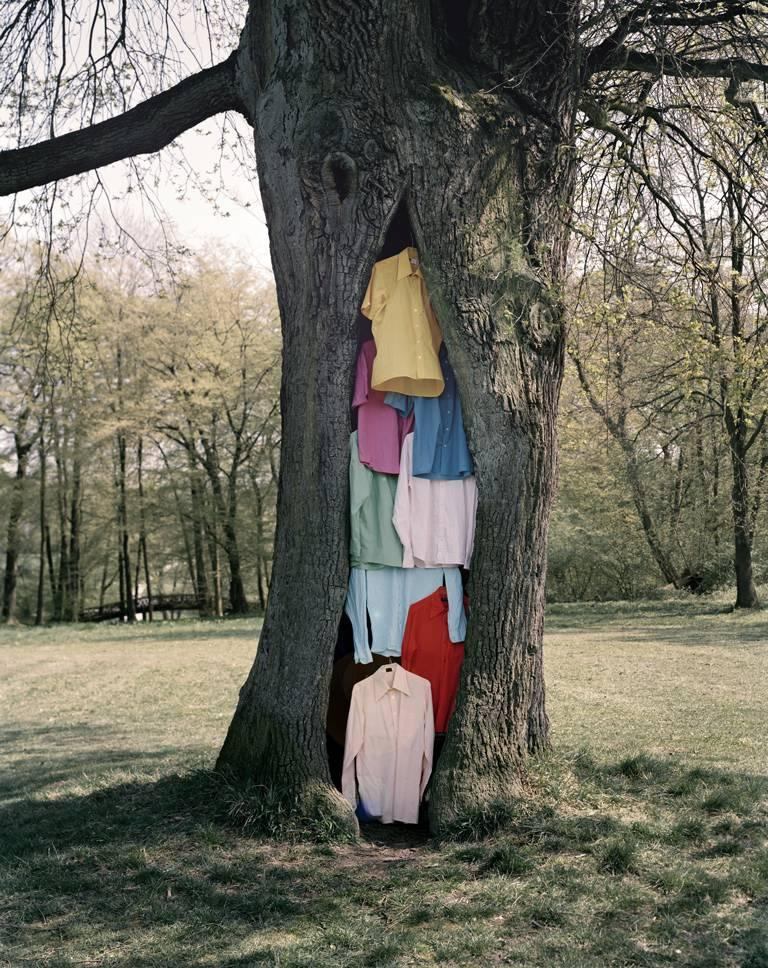 Oliver Schwarzwald Color Photograph - Contemporary Photographic Art: Shirt Tree