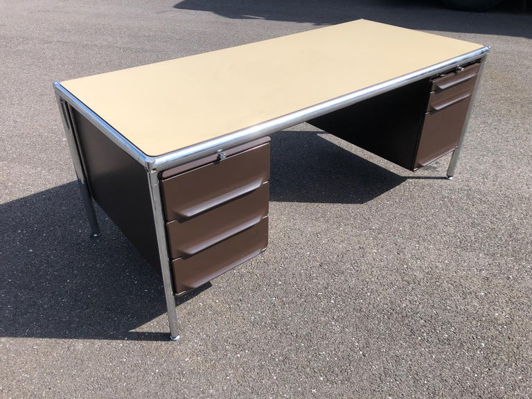 Olivetti Industrial Desk For Sale 4