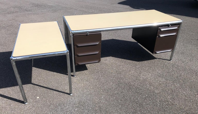 Mid-Century Modern Olivetti Industrial Desk For Sale