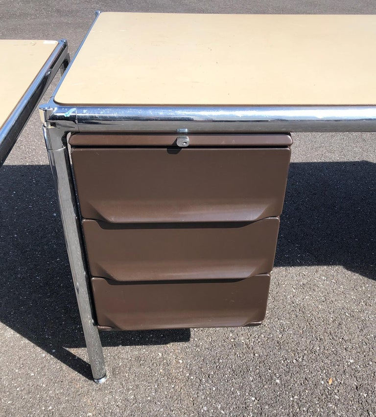 Italian Olivetti Industrial Desk For Sale