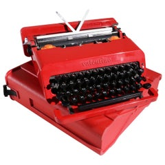 Olivetti Valentine Typewriter Designed by Ettore Sottsass & Perry King