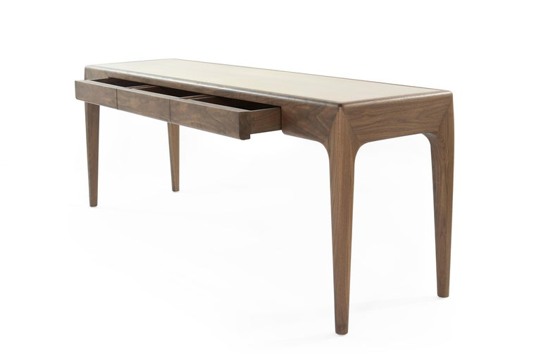 Walnut Olivia Console Table by Stamford Modern For Sale