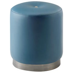 Olivia Leather Pouf by Filippo Dini