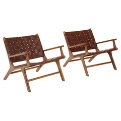 Olivier De Schrijver, 'Hollywood' Leather Armchairs, Belgium, Signed & Numbered