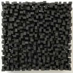 Rythme urbain - grey black contemporary modern modern sculpture painting relief