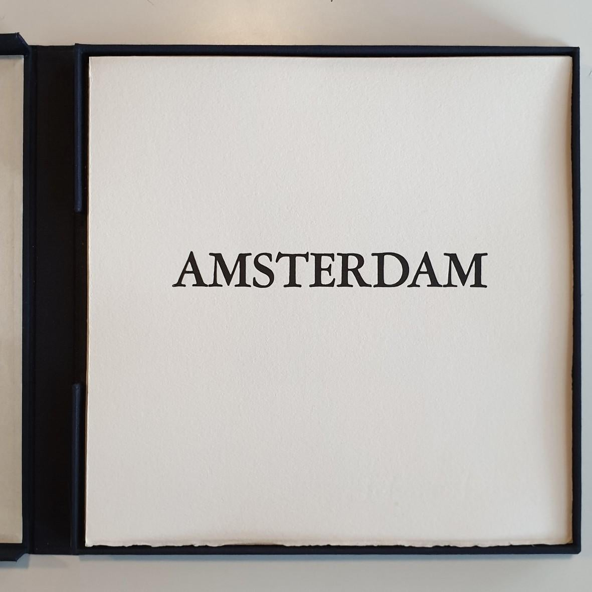 Amsterdam  3/50- collectors box with ten black-white etching aquatint prints