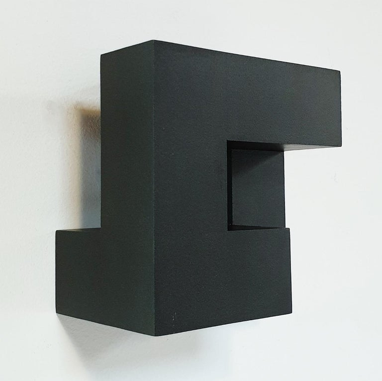 Carré architectural II no. 5/15 - contemporary modern abstract wall sculpture - Brown Abstract Painting by Olivier Julia
