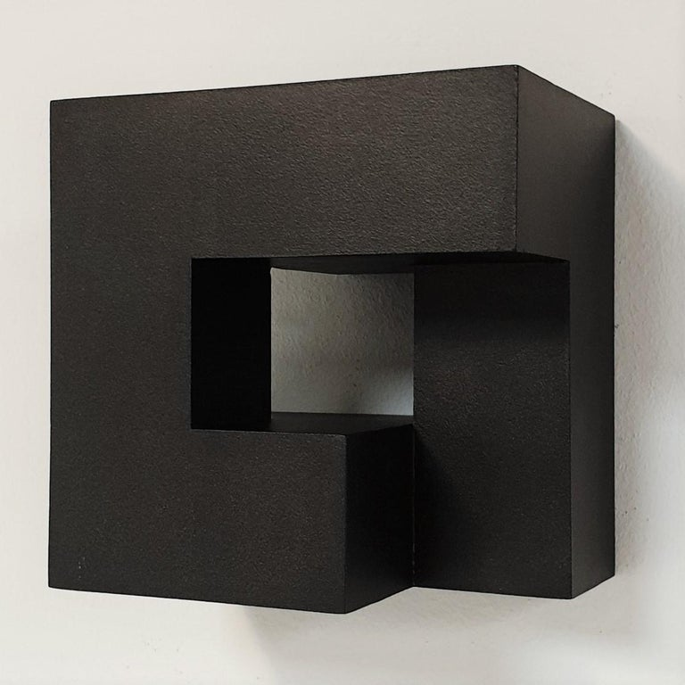 Olivier Julia Abstract Painting - Carré architectural II no. 5/15 - contemporary modern abstract wall sculpture