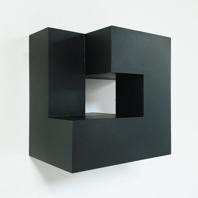 Carré architectural III no. 5/15 - contemporary modern abstract wall sculpture - Brown Abstract Sculpture by Olivier Julia