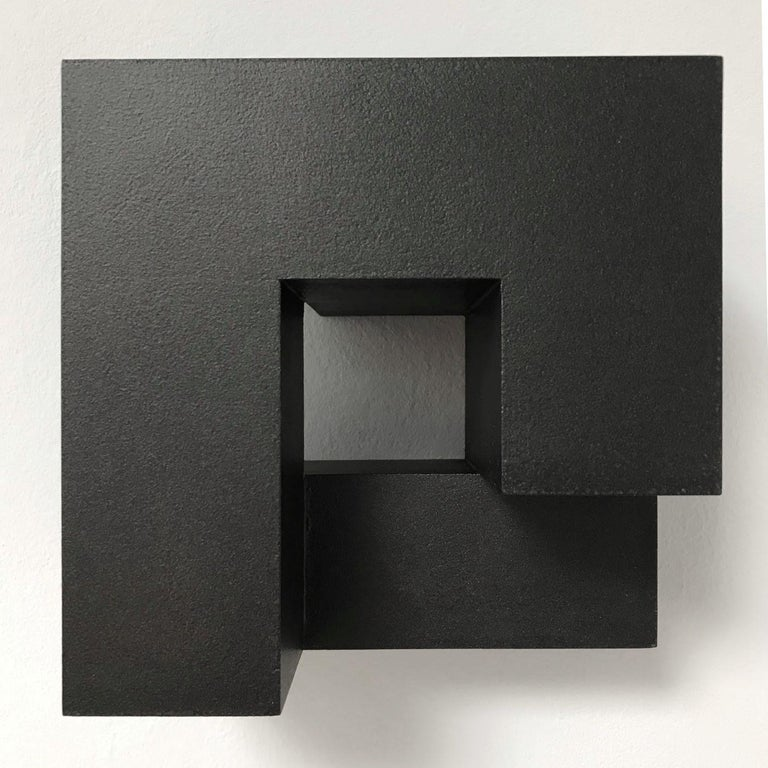 Carré architectural IV no. 5/15 - contemporary modern abstract wall sculpture - Abstract Geometric Painting by Olivier Julia