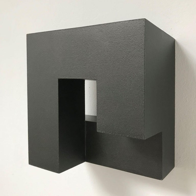 Olivier Julia Abstract Painting - Carré architectural IV no. 5/15 - contemporary modern abstract wall sculpture