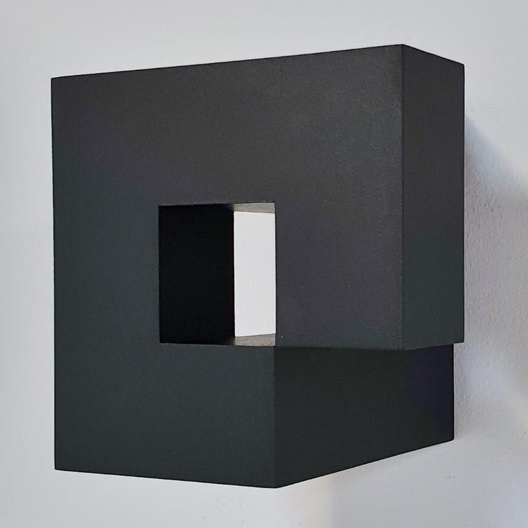 Olivier Julia Abstract Painting - Carré architectural V no. 5/15 - contemporary modern abstract wall sculpture