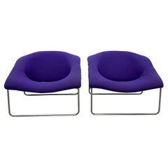 Olivier Mourgue 'Cubique' Lounge Chairs by Airborne International, a Pair