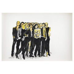 Olivier Rousteing and His Balmain HM Collection, Watercolor on Archival Paper