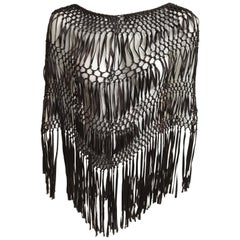 Olivier Strelli Brown Silk Knotted Capelet