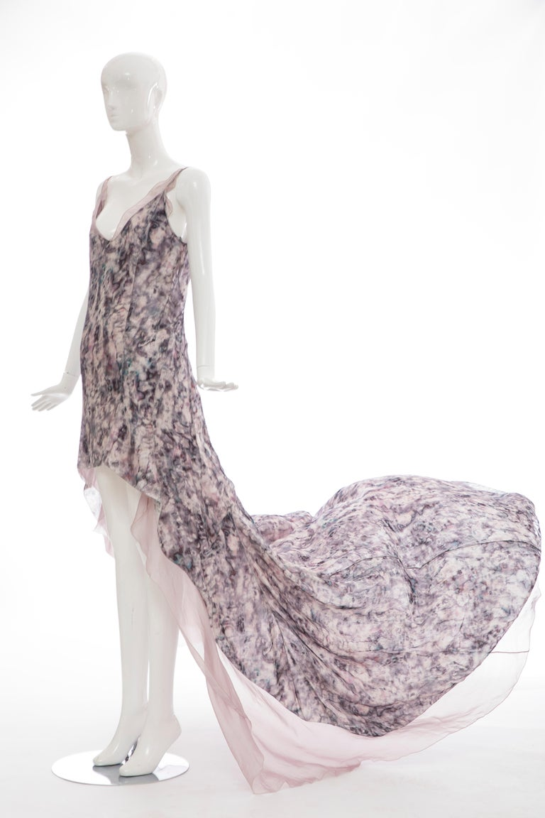 Olivier Theyskens For Nina Ricci Runway Silk Print Evening Dress, Spring 2009 For Sale 8