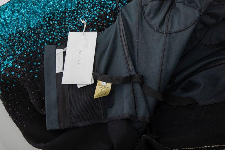 Olivier Theyskens Nina Ricci Runway Black Strapless Evening Dress, Fall 2009 For Sale 7