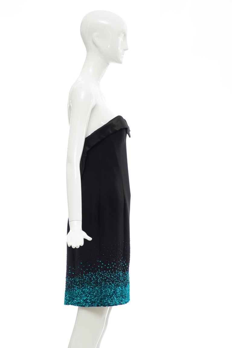 Olivier Theyskens Nina Ricci Runway Black Strapless Evening Dress, Fall 2009 For Sale 1