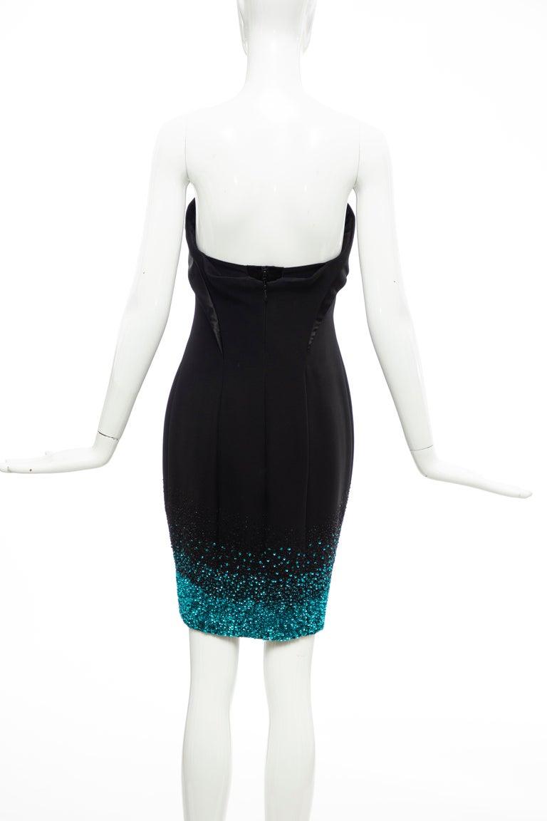 Olivier Theyskens Nina Ricci Runway Black Strapless Evening Dress, Fall 2009 For Sale 2