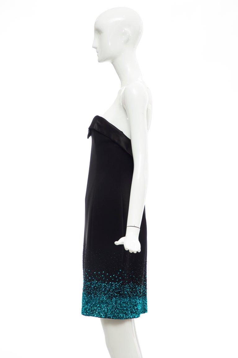 Olivier Theyskens Nina Ricci Runway Black Strapless Evening Dress, Fall 2009 For Sale 5