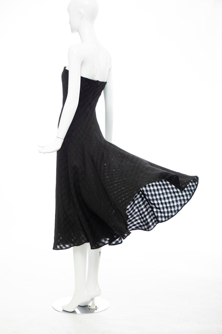 Olivier Theyskens Runway Black Linen Dress, Spring 2000 For Sale 6