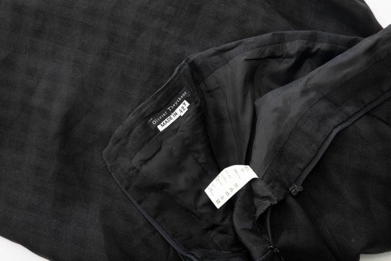 Olivier Theyskens Runway Black Linen Dress, Spring 2000 For Sale 10