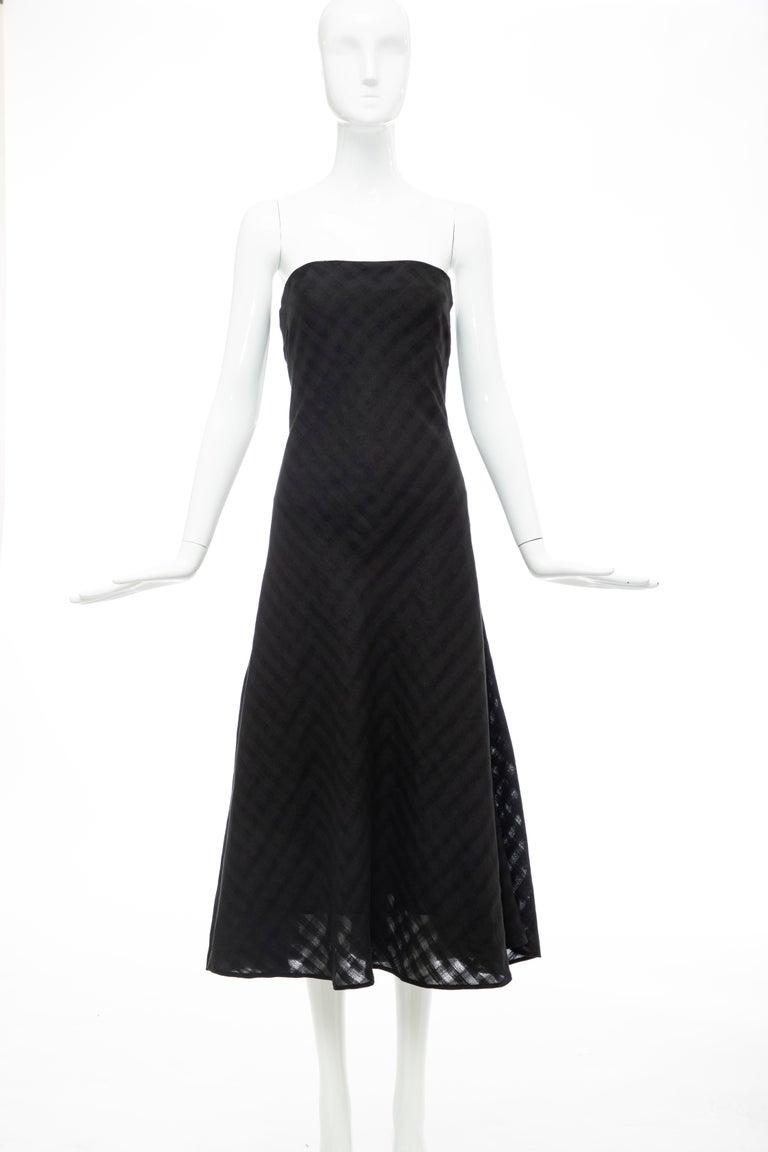 Olivier Theyskens Runway Black Linen Dress, Spring 2000 In Good Condition For Sale In Cincinnati, OH