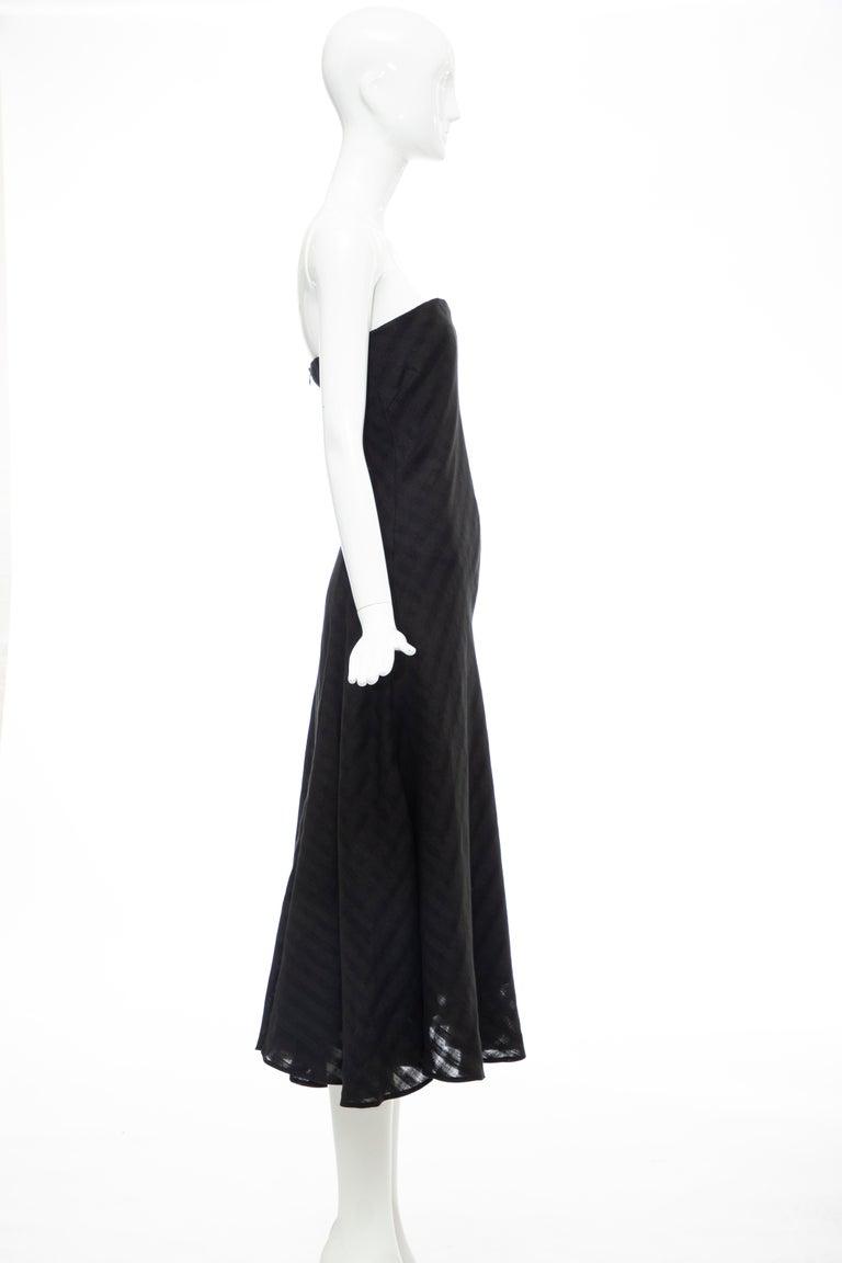 Olivier Theyskens Runway Black Linen Dress, Spring 2000 For Sale 2