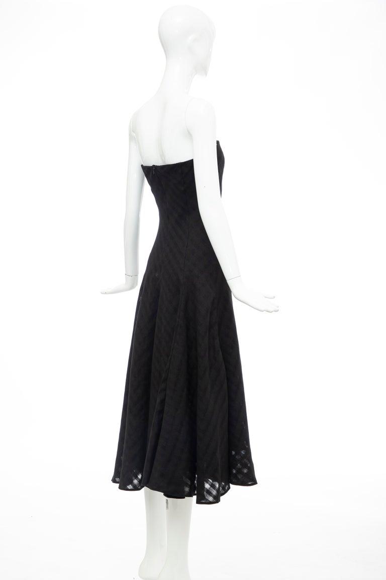 Olivier Theyskens Runway Black Linen Dress, Spring 2000 For Sale 3
