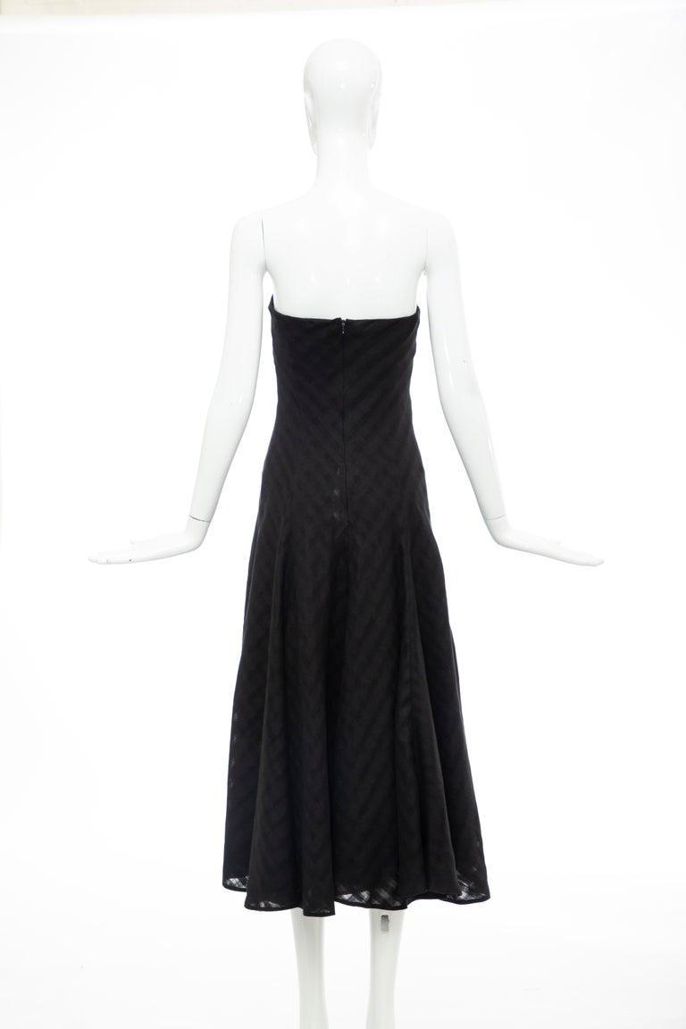 Olivier Theyskens Runway Black Linen Dress, Spring 2000 For Sale 4