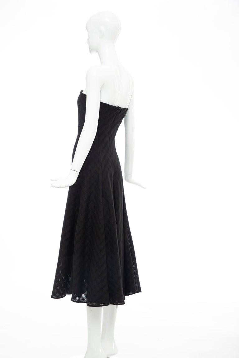 Olivier Theyskens Runway Black Linen Dress, Spring 2000 For Sale 5