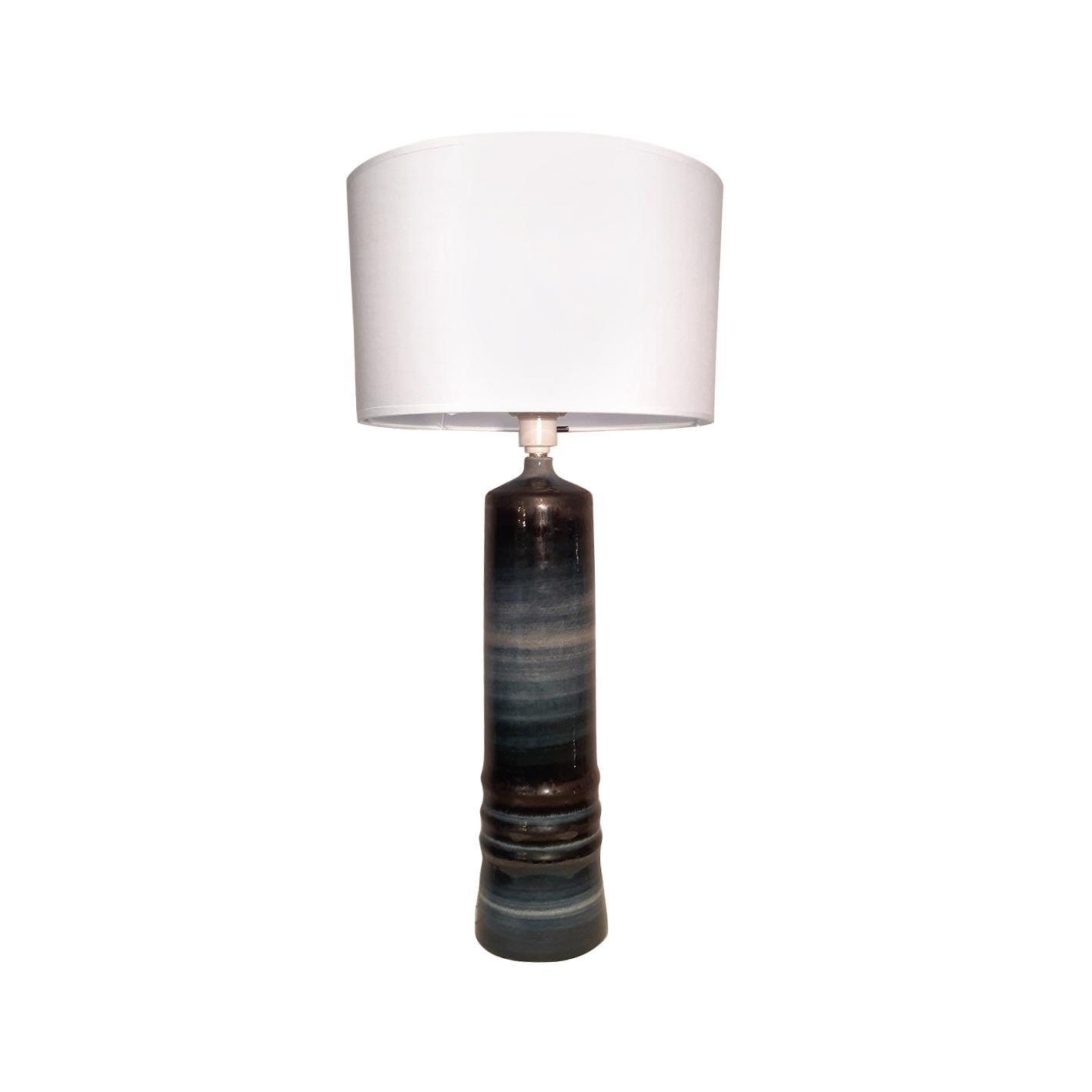 Olle Alberius Ceramic Table Lamp Rostrand 1970 Sweden Midcentury