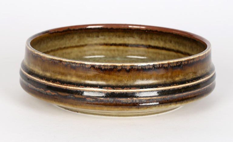 Olle Alberius for Rorstrand Mid-Century Studio Pottery Bowl For Sale 2