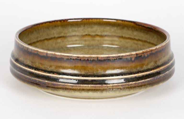 Mid-Century Modern Olle Alberius for Rorstrand Mid-Century Studio Pottery Bowl For Sale