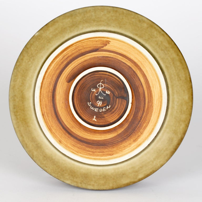 Swedish Olle Alberius for Rorstrand Mid-Century Studio Pottery Bowl For Sale