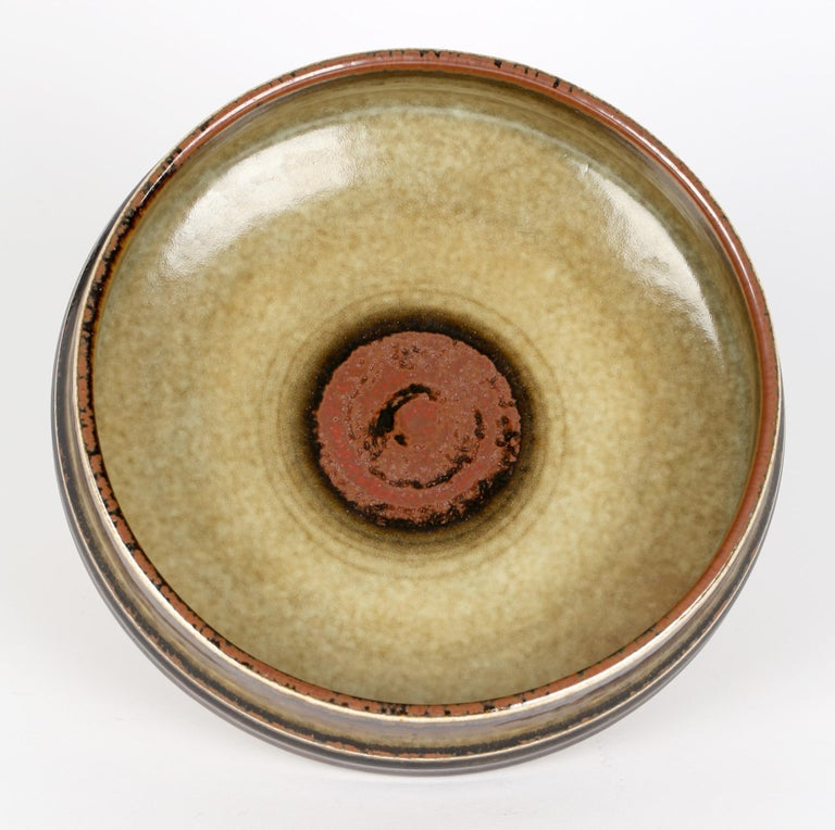 Glazed Olle Alberius for Rorstrand Mid-Century Studio Pottery Bowl For Sale