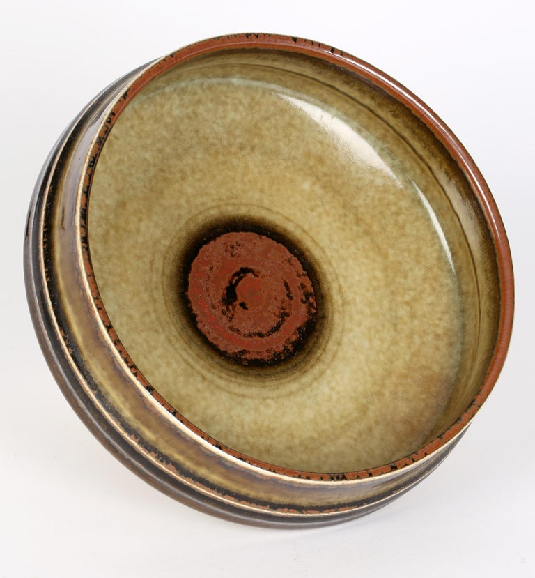 Olle Alberius for Rorstrand Mid-Century Studio Pottery Bowl For Sale 1