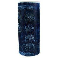 Olle Alberius for Rörstrand, Sarek Vase in Hand Painted Glazed Ceramics