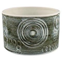 Olle Alberius for Rörstrand, Sarek Vase or Bowl in Hand Painted Glazed Ceramics