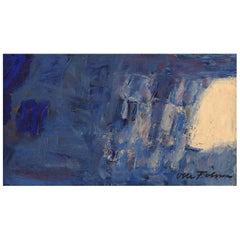 Olle Folke Olsson Swedish Artist, Oil /Canvas, Modernist Composition