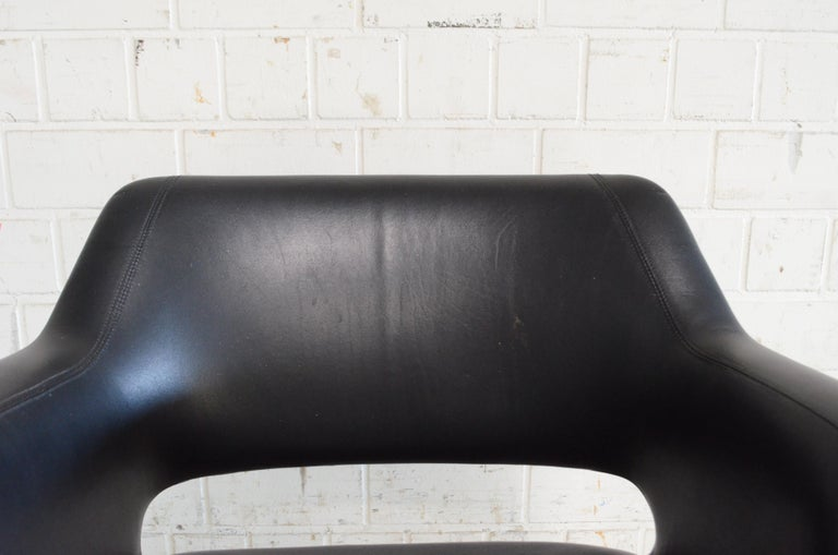 Olli Mannermaa Pair of Leather Kilta Chair by Eugen Schmidt & Cassina Martela For Sale 5