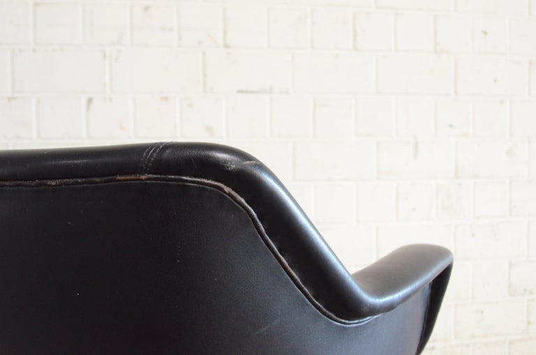 Olli Mannermaa Pair of Leather Kilta Chair by Eugen Schmidt & Cassina Martela For Sale 8