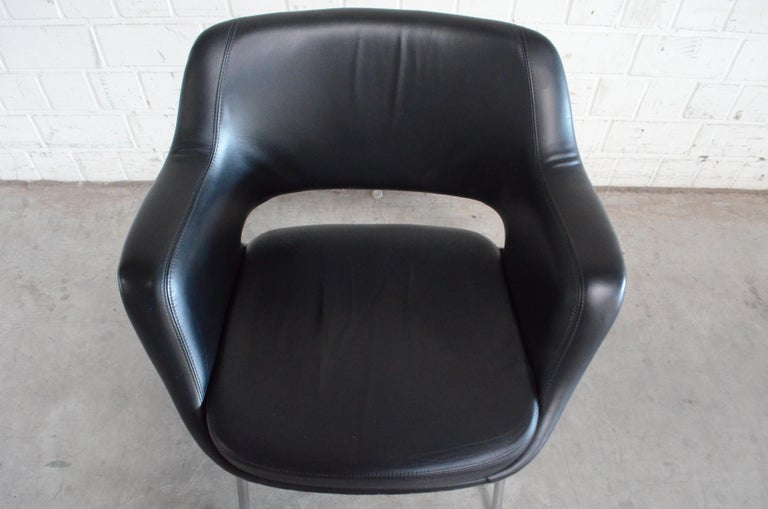 Olli Mannermaa Pair of Leather Kilta Chair by Eugen Schmidt & Cassina Martela For Sale 12
